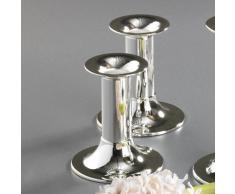 Bredemeijer Zilverstad 6246231 - Set de candelabros Tube, pequeño