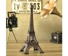 HuntGold 1X de la Estatua de la figura de la torre Eiffel de oficina decoración para árbol de Navidad Adornos de regalo (10 cm)