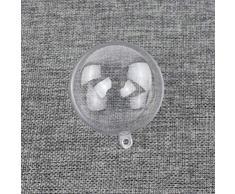 OUNONA 12pcs Regalo Bola de plástico Transparente Bola Transparente de Bolas de Navidad 4 cm Adorno