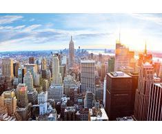 Papel pintado fotográfico que muestra el Skyline de Nueva York desde un ático - imagen mural de la vista de Manhattan - póster XXL de Nueva York decoración mural by Great Art