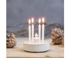 Tiempo de invierno Mini corona de Adviento con 8 velas, D.: 7,5 cm H.: 5 cm [W]