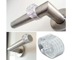 AccuBuddy Topes para puertas - 6 x Tope para puerta transparente, protege paredes/Muebles frente a abolladuras, fácil de pegar