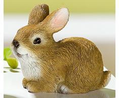 Gilde precioso Decoración Conejo Pascua Conejo Figura decorativa naturfaben acuosa, 5 x 3 x 6 cm