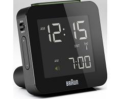 Braun BNC 009 - relojes de mesa (7,5 cm, 4,5 cm, 7,5 cm, LCD, Azul, AA, 1.5V, LR6) Negro