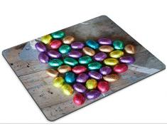Alfombrilla de ratón juego Luxlady ID: 43573072, huevos de Pascua de chocolate envueltos en papel de aluminio de color