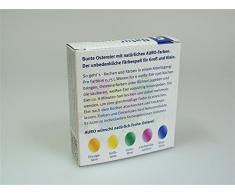 AURO Huevos de Pascua bio de colores naturales - contiene huevos de Pascua color naranja, amarillo, verde, rojo y azul - n.º 500
