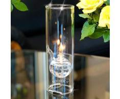 ALM Iroza de Lujo Lámpara de Aceite. Magisch Encantadoras, Cristal Resistente al Calor Buena Idea para diseño. Regalo, Vela, Velas, portavelas, Regalo Idea, Corona de Adviento Ideas. 21 cm.
