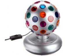 Reality Leuchten R5341-87 - Bola de luces de discoteca de sobremesa, con función giratoria (E14), color titanio