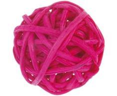 Artificiales - Bolas de ratán color fucsia x 12, diámetro 3 cm).