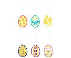 Spitze Plauner 5 x 6 cm árbol de Navidad decoración para árbol de Navidad de la percha y huevos de Pascua, juego de 6