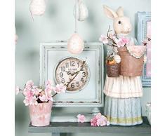 6pr1070 Clayre y Eef – figura decorativa – Conejo de Pascua – Mujer ca. 8,7 x 6.3 x 18,1 en
