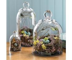 Juego de 3 pantalla de cúpula de planta de tarros de cristal, decorativos campana Bell/terrario/centro de mesa