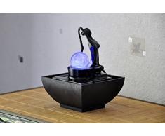 ZenLight Yoga2 - Fuente de polirresina, 12Â x 12Â x 17Â cm, color negro