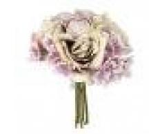 Ramo de Flor Rosa Hortensia Artificial para Novia Boda Mupcial -Nulticolor