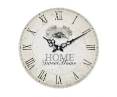 Premier Housewares - Reloj de pared (DM, texto en inglés Home Sweet Home), color crema
