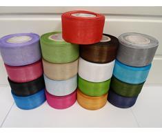 2 metros de cinta de organza 40mm, lavanda, luz púrpura, de doble cara, favores de la boda, decoración, Pascua, Navidad, la artesanía