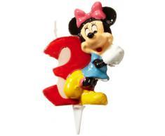 dekora 346143 Vela de Cumpleaños Mickey Mouse Numero 3, Cera, Multicolor, 6.5