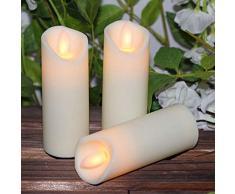 Peony Velas de año Nuevo remotas o no remotas, Luces de té LED con batería, Luces de té Luces de Vela LED Falsas Velas de Pascua