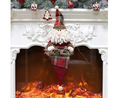 thematys Calcetín de Navidad para Rellenar y Colgar en Diferentes diseños: la decoración navideña (2)