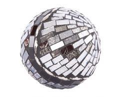 Bola decorativa efecto cristal. (10 x 10 x 10 cm)