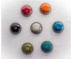 Armonizador Orgonita decorativa para sobremesa modelo media bola, diferentes coloress, pero todas testadas y armonizadas - Orgon Reiki Chakras