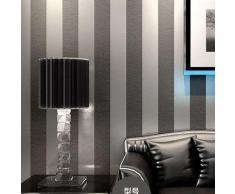 lxpagtz papel pintado no tejido moderno simple dormitorio saln blanco y negro rayas verticales azul mediterrneo - Papel Pintado Rayas Verticales