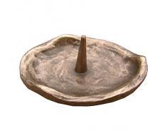 candelero óvalo 9 cm * 8 cm bronce noble patina marron