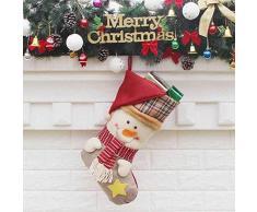 thematys Calcetín de Navidad Medias para Rellenar y Colgar en 10 diseños Diferentes - la decoración navideña (15)