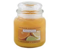 Caroline velas 425 G energizando de cítricos de cristal para velas en tarro, Naranja