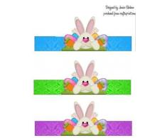 Conejo de Pascua Conejo huevo Holder Display 4 por Janice SHEHAN