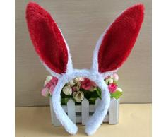 Lurrose 2 juegos de disfraz de conejito orejas de conejo diadema pajaritas juego de cola halloween disfraz de pascua de navidad accesorios para adultos y niños