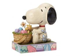 Peanuts de Jim Shore Snoopy figura decorativa de conejo de Pascua