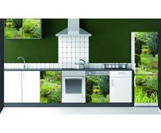 Plage Jardín Vinilo Adhesivo para la Cocina, Vinilo, Multicolor, 60x3x180 cm