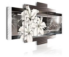 Cuadro en Lienzo 200x100 cm! 5 partes - Grande Formato - Impresion en calidad fotografica - Cuadro en lienzo tejido-no tejido - flores 020110-122 200x100 cm B&D XXL