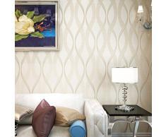 Alta calidad moderno y minimalista Curve ondulado rayas gamuza de papel pintado TV fondo papel pintado