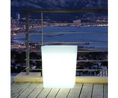 Lumisky MPS6-05 - Jardinera luminosa para iluminar caminos (11 W E27 220 V 60 x 31 x 70 cm) color blanco