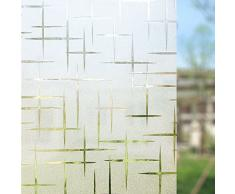 rabbitgoo Vinilo para Ventana Pegatina Blanca Privacidad Raya Película Vinilos Adhesivos para Cristales Vidrios 44.5cmx200cm