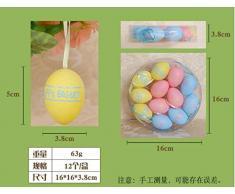 LESX-Easter eggs Huevo De Pascua Diy Decoración Creativa En Caja De Huevos De Plástico Pintura Juguetes Regalos De Vacaciones