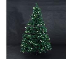 Arbol de Navidad Altura 180cm 800 ramas + 56 Piñas Decoracion Arboles Navidades