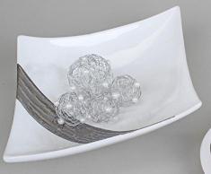 Cáscara creativgravur un cuenco con diseño de plato decorativo en edelweiss térmicas de respuesta de azúcar, 27 cm