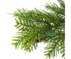 Abeto decorativo de Nordmann con piñas, en maceta, 135 cm - Árbol de navidad artificial / Árbol del Cáucaso sintético - artplants