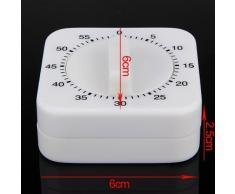 Well-Goal Temporizador regresivo mecánico de 60 min, con alarma, utensilio de cocina