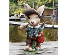 Diseño 4 Enano Conejo 91102 – 4 XXL 45 cm de alto Decoración Jardín Enano de jardín figuras Decoración Varios Diseño