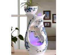 Fuente Interior Decoración de cerámica Creativa con la lámpara Ministerio del Interior Mesita Feng Shui Lucky Fuente Fuente de Agua Cascada De Interior Fuente