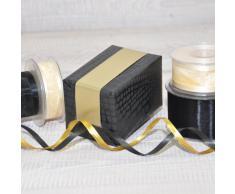 LochnerVerpackung - Papel de regalo en rollo, 50 cm x 50 m, color negro y dorado