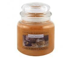 Caroline velas 425 G sensual sándalo de cristal para velas en tarro, Naranja