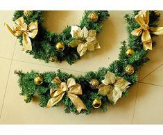 V-SOL Guirnalda Artificial Navideño Flor decoración Navidad