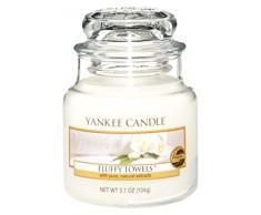 Yankee Candle 1205378 Vela en un Vaso Doze, Toallas de Felpa, Color Blanco, Frasco pequeño