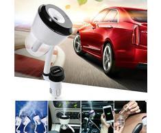 zolimx Coche humidificador aire purificador ambientador coche viaje portátil con interfaz USB (Púrpura)