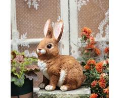 Zyh-hyz Escultura Estatua Conejo, Conejo Jardín Jardín Simulación Animal Lindo Conejo de Pascua Arte de la Resina Decoración de la muñeca